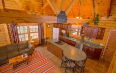 Pentwater Michigan Cabin Kitchen from Stairs