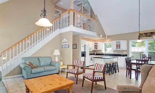 Ridge Road Cottage Mears, MI Open Living Area