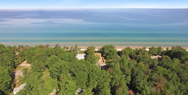 Ridge Road Cottage Mears Michigan Arial 2