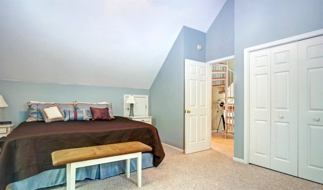 The Master Bedroom is located on the upper level.