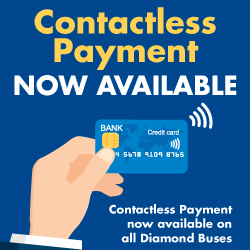 Diamond Buses introduce Contactless Payments
