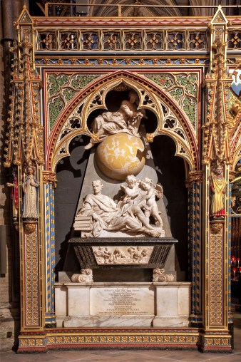Sir Isaac Newton monument, Westminster Abbey