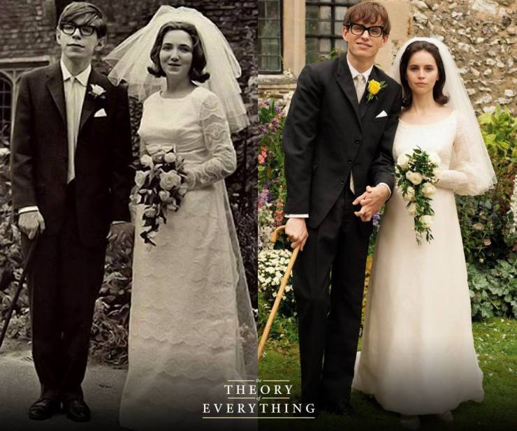 Eddie Redmayne and Felicity Jones as Stephen Hawking and Jane Hawking (Picture courtesy of https://www.facebook.com/TheoryofEverythingMovie)