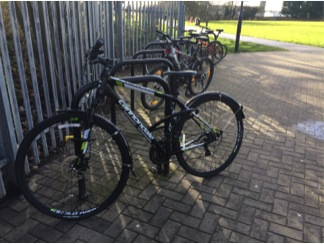 Soon secured with a sensor: Bikes like these in Harrow