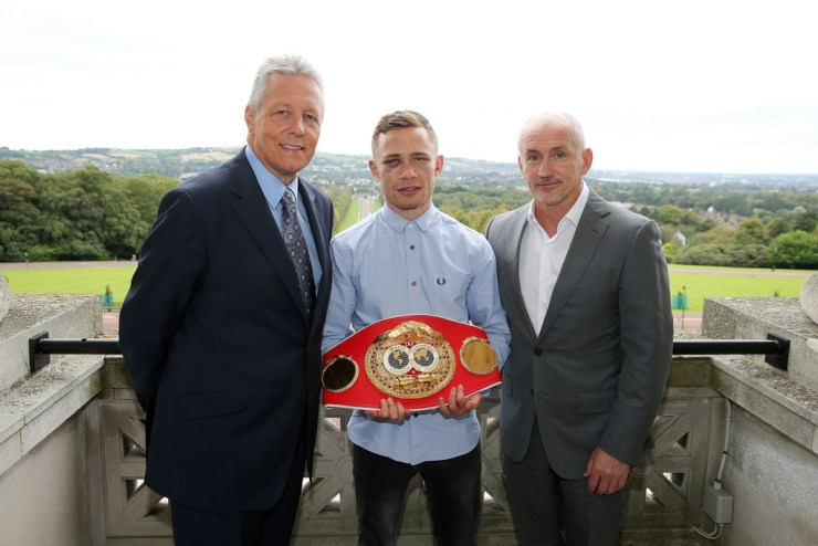 Carl Frampton's (c) fight against Chris Avalos in Belfast marked the return of big-time boxing to ITV (Credit: DUP Photos)