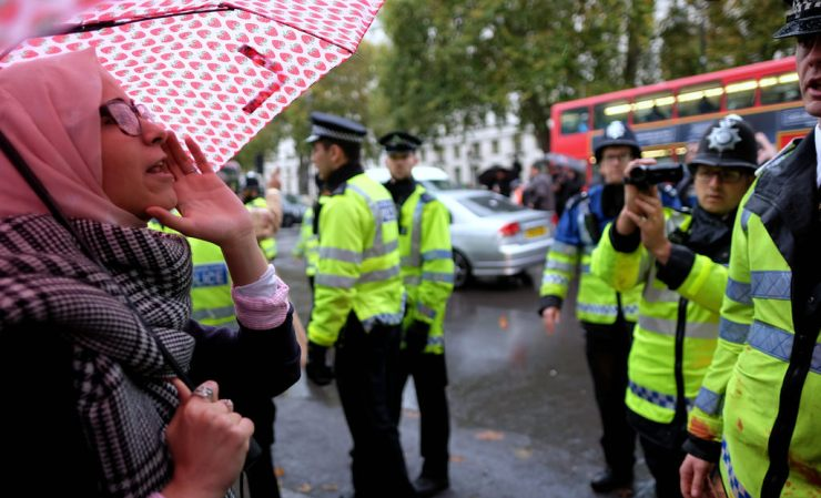 Organisations march on Downing Street campaigning for the protection of women i vulnerable circumstances