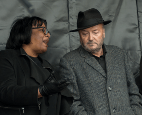 Dianne Abott speaks to George Galloway. Photo by https://www.flickr.com/photos/theweeklybull/ creative commons
