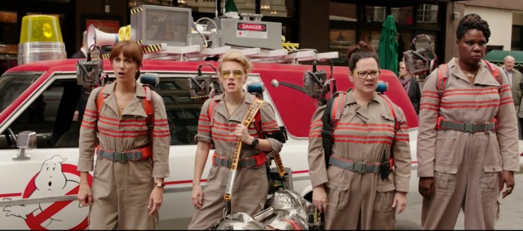 A clip from the new Ghostbusters movie. Photo Sony Pictures