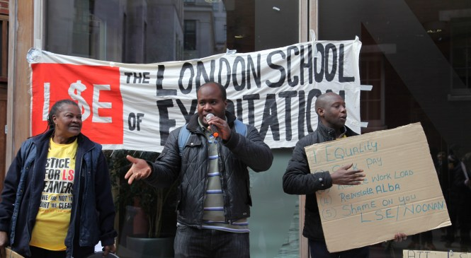 Historic LSE Cleaners' Strike: Outsourced workers fight segregation