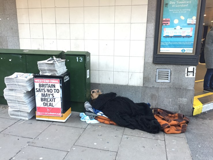 Homelessness rises in London