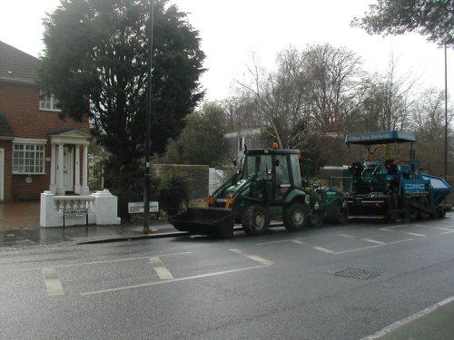 Fixing potholes on crown lane