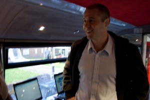 Mike Smith  on the Activity Bus