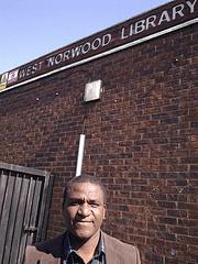 Olu Opanuga, chair of Friends of West Norwood Library