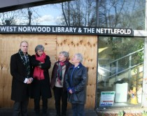 Local councillors at the library building
