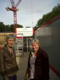 Councillors visiting the construction site