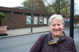Cllr Jane Pickard at the Nettlefold Halls building