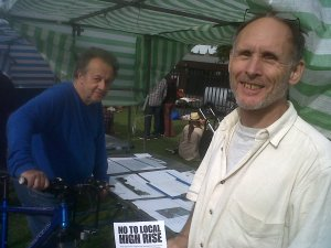 Rob Andrews of NAG  at West Norwood Feast