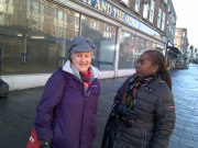 Jane Pickard & Sonia Winifred at Knowles site
