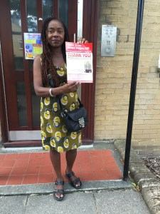 Cllr Sonia Winifred on Holderness Way