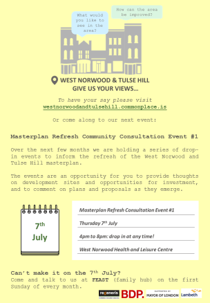 WNTH Masterplan event flyer - 7th July 2016