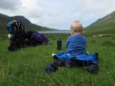 Looking at Loch a' Ghlinne