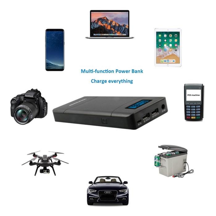 Black Volpower Multi-functional 15,600mah Power Bank P66 Tech Gear