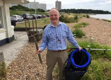 Royston Smith MP at our Big Beach Clean Up 2016!