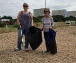 Friends from Wise Ocean at the Big Beach Clean Up