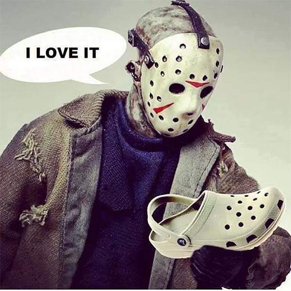 Jason loves Crocs