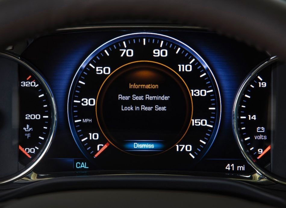 GM is adding rear seat reminder to several vehicles models in 2017.
