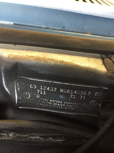 Rare Find: 1969 Chevrolet Camaro numbers match