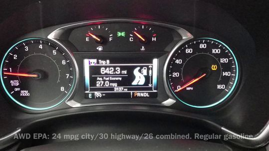 Chevrolet Equinox strike dashboard