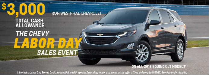 $3000 cash back on new 2018 Chevrolet Equinox models