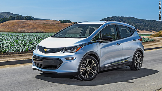 Chevy Bolt named Best Small EV by Consumer Reports – Feb. 22, 2018