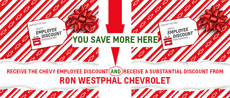 gm employee pricing save more at ron westphal chevrolet