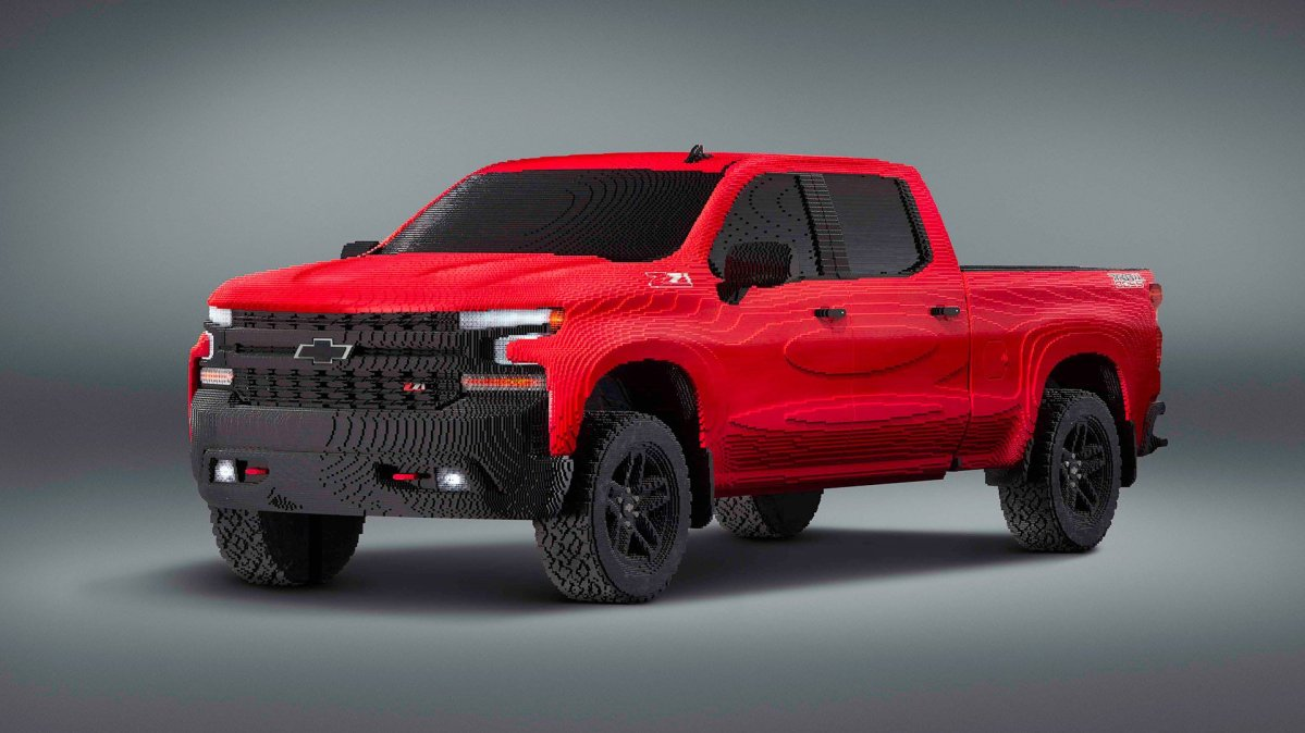 Chevrolet Debuts Full-Size Silverado Trail Boss Built Entirely of Lego at Detroit Auto Show