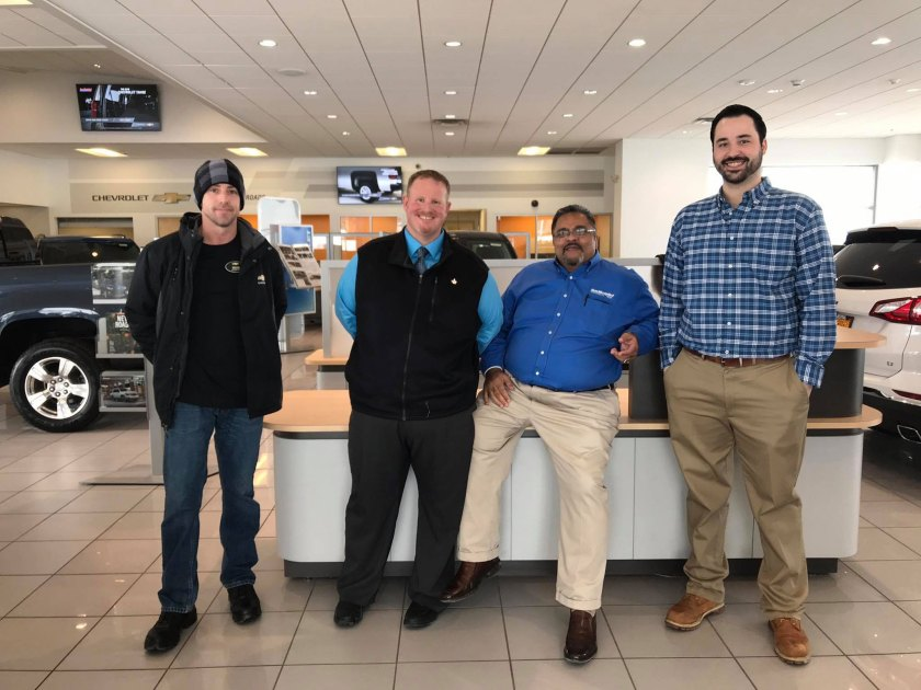 Neither snow nor rain keep Ron Westphal Salespeople from their duties