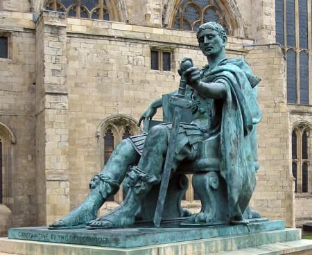 Statue of Emperor Constantine I in York, England