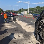 Three-Vehicle Accident Shuts Down Southbound I-95 Friday Afternoon