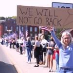Abortion Protest Fills Ruth Steinkraus Bridge Downtown