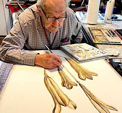 Artist and Teacher, Richard Rauh at 96 Is No Ordinary Late Bloomer