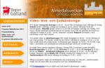 Skärmdump från TV- Video- radiosändningssidan på Almedalsveckan.info