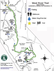 Northern Section Upper West River Trail map