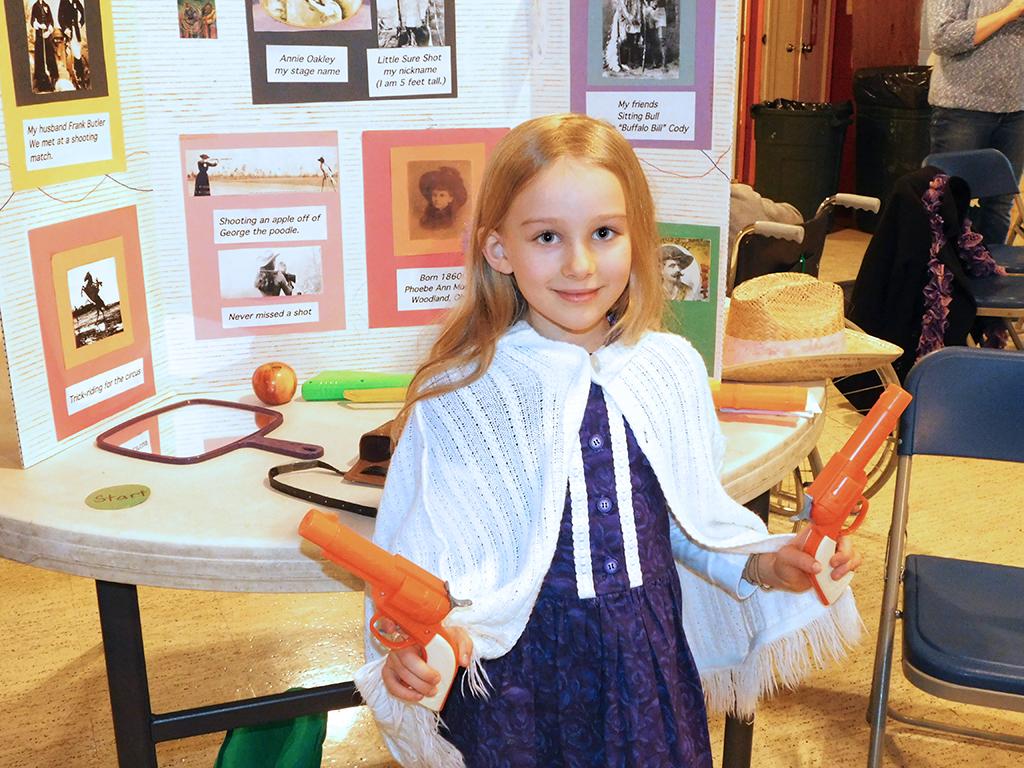 3rd Grade Wax Museum - Anne Oakley
