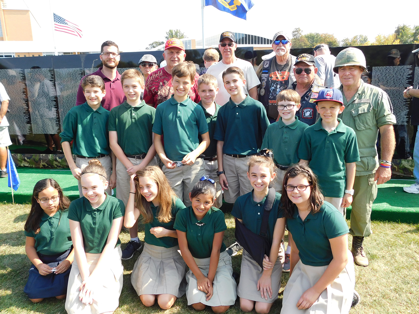 6th Graders at the Traveling War Memorial