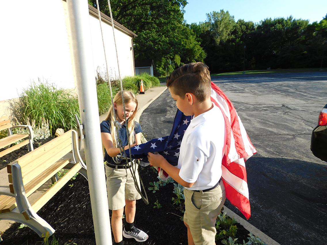 Sixth Grade Flag Duty