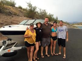 rent a boat on lake pleasant