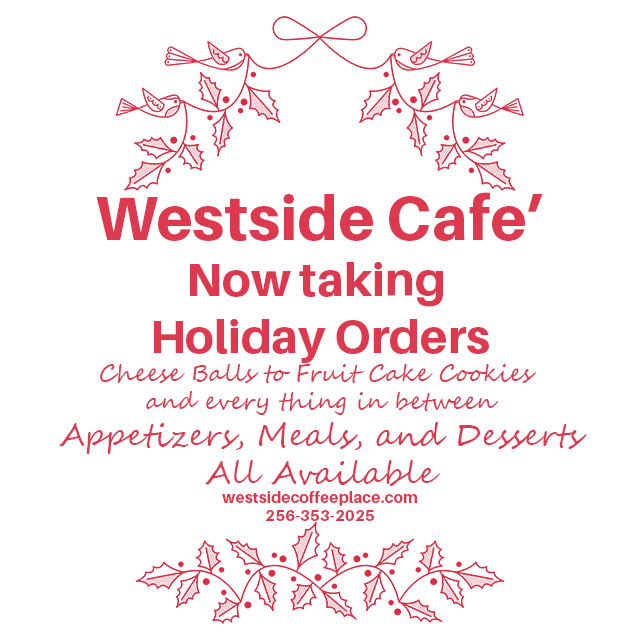 2020 Westside Coffee Place Christmas Catering