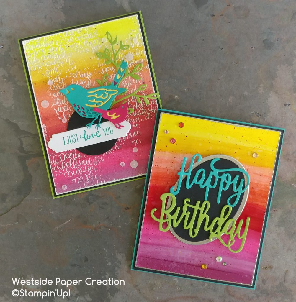 Gradient background with Stampin' Blends