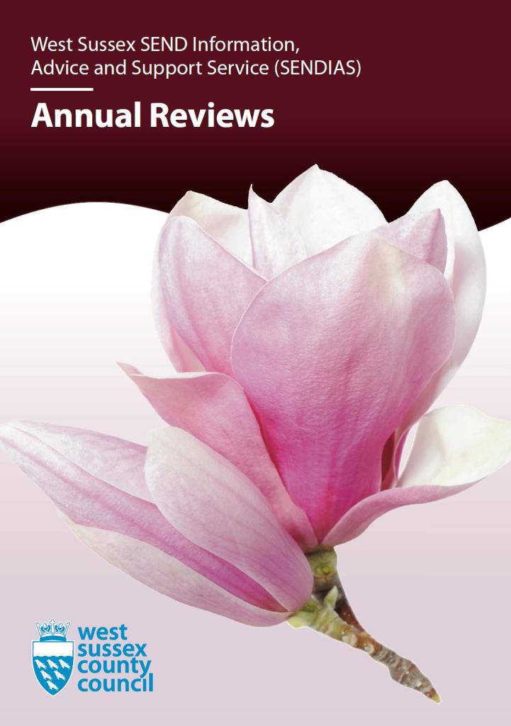 Picture of the front cover of the SENDIAS Annual reviews leaflet